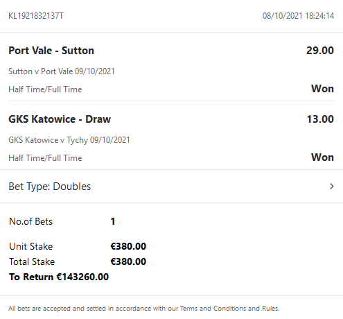 2 FIXED MATCHES 09-10-2021